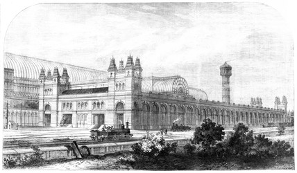 Crystal Palace Station, Sydenham, London 1865.
