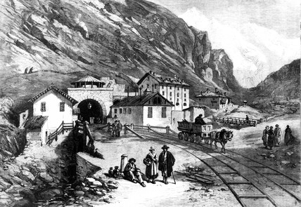 Mount Cenis tunnel, Franco-Italien border, 1869.