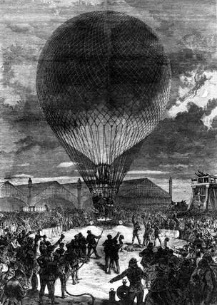 Night ballooning, Paris, 1870.