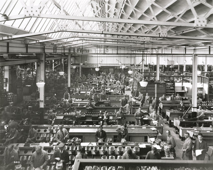 The aero engine department of Rolls-Royce at Bristol, 1930.
