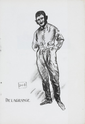 Ferdinand Leon Delagrange, pioneering Franch aviator, 1909.