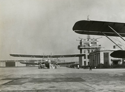 HP42 G-AAXD 'Horatius' at Croydon Airport, Greater London, c 1930s.