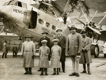 HP42 G-AAXE 'Hengist' in Paris with the Maharajah of Johdpur and party, 1931.