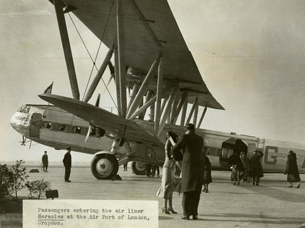 HP42 G-AAXC 'Heracles' boarding at Croydon Airport, Greater London, 1931.