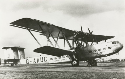 HP42 G-AAUC 'Horsa' used on the London-Paris route, 1930s.