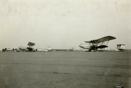 HP42s 'Horsa' and 'Hadrian' at Khartoum in the Sudan, c 1930s.
