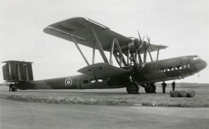 HP42 G-AAUE 'Hadrian' at RAF Odiham, Hampshire, 1940.