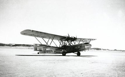 HP42 G-AAUE 'Hadrian' at Wadi Halfa in the Sudan, September 1936.