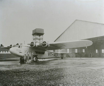 Prototype Atalanta serving with Indian- Transcontinental Airways., c 1930s.