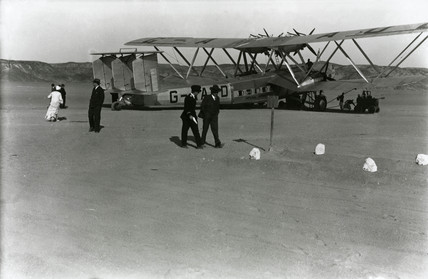 HP42 G-AAUD 'Hanno' at Wadi Halfa in the Sudan, Africa, 1930s.