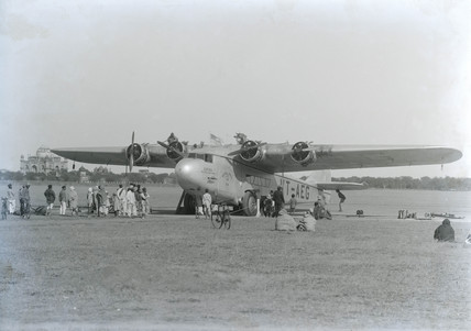 Last Atalanta serving as VT-aeG with Indian-Transcontinental Airways, c 1941.