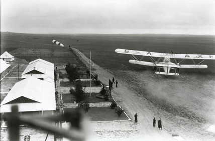 HP42 G-AAXF 'Helena' departing from a remote airport, 1930s.