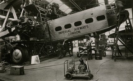 HP42 G-AAXD 'Horatius' undergoing maintenance at Croydon, March 1936.