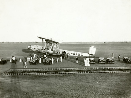 HP42 G-AAUC 'Horsa' at Khartoum, Sudan, 1931.