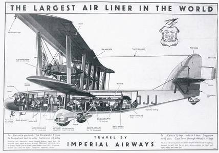Imperial Airways poster advertising the Short 'Scylla' airliner, 1934.