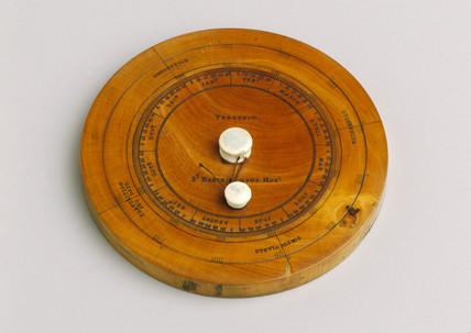 Perpetual calendar, English, 1822-1869.
