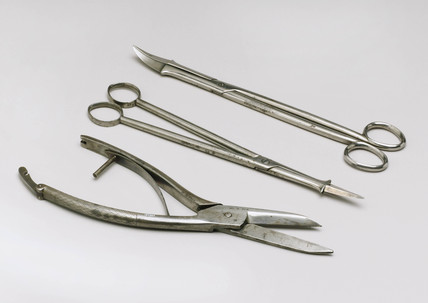 Part of an obstetrical instrument set, English, 1851-1900.