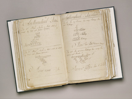 Pages of 'Arithmetical Questions', early 19th century.