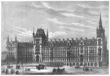 St Pancras Hotel, London, 1871.