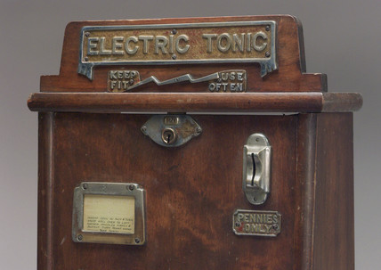 Electric tonic amusement machine, c 1920.