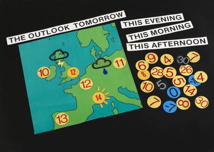 Weather map of North West Europe, 1974.