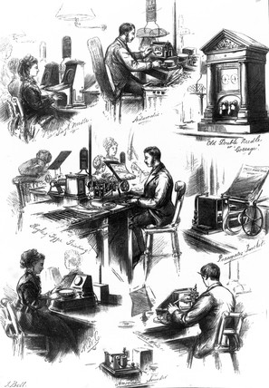 At the GPO telegraphy office, 1874.