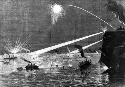 Torpedo warfare, Portsmouth, 1879.
