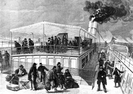 Besemer suspended saloon steamer, 1875.