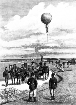 German war balloon, 1892.