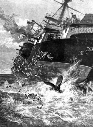 HMS 'Victoria' capsizing, 1893.