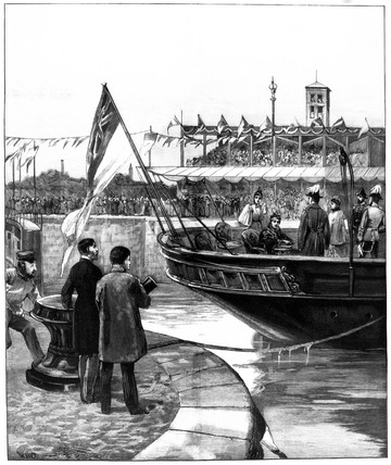 Queen Victoria opening the Manchester Ship Canal, 1894.