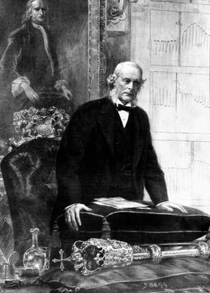 Sir Joseph Lister, amateur microscopist, 1897.