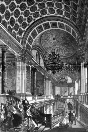 Foreign Office Staircase, London, 1868.