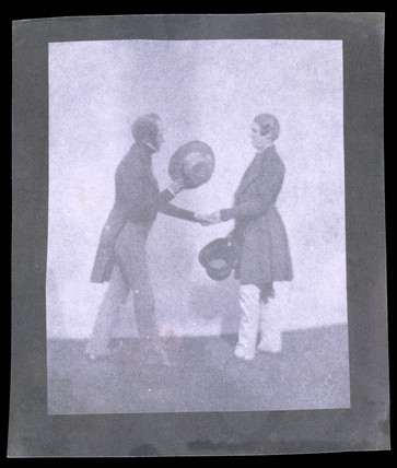 'The Handshake', mid 19th century.