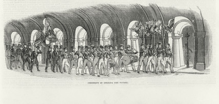 Ceremony of opening of the Thames Tunnel, London, 25 March 1843.