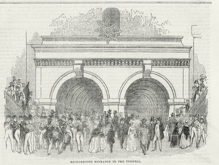 Rotherhithe entrance to the Thames Tunnel, London, 25 March 1843.