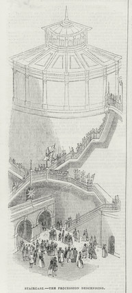 Opening ceremony of the Thames Tunnel, London, 25 March 1843.