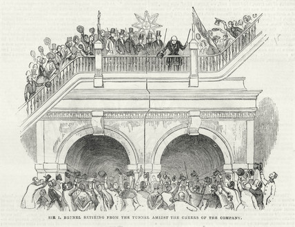 Opening ceremony of the Thames Tunnel, London, March 1843.