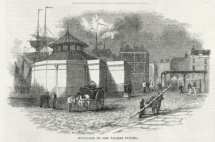 'Entrance to the Thames Tunnel', Rotherhithe, London, 7 March 1843.