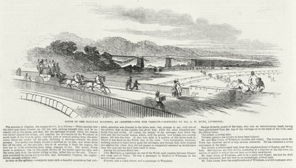 'Scene of the railway accident at Chester...', Cheshire, 24 May 1847.