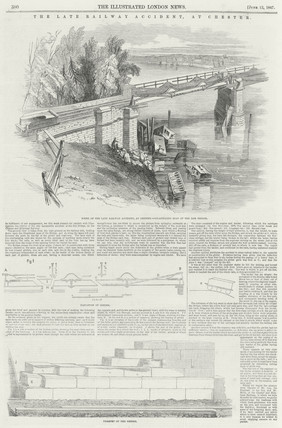 Railway Accident on the Dee Viaduct, Chester, Cheshire, 24 May 1847.