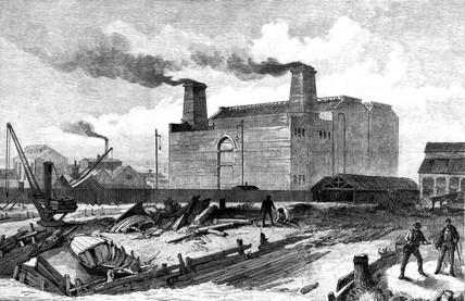 Deptford Power Station, London, c 1888.