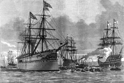 The Prince of Wales at Portsmouth, 1876.