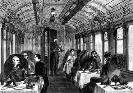 Pullman dining car, 1879.