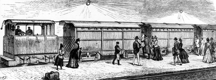 City & South London electric train, 1890.