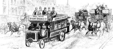 Steam omnibus, 1898.