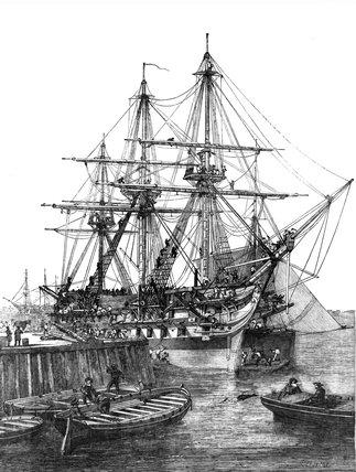 HMS 'Caesar', Portsmouth, 1854.