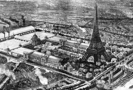 Eiffel Tower, Paris Exhibition, France, 1889.