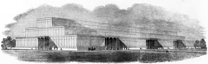 Paxton's design for the 'Crystal Palace', 1850.
