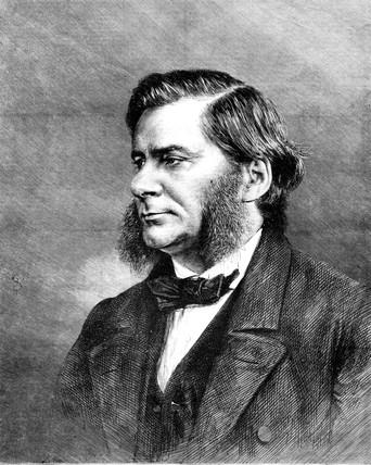 Profesor Thomas Henry Huxley, English biologist, 1870.